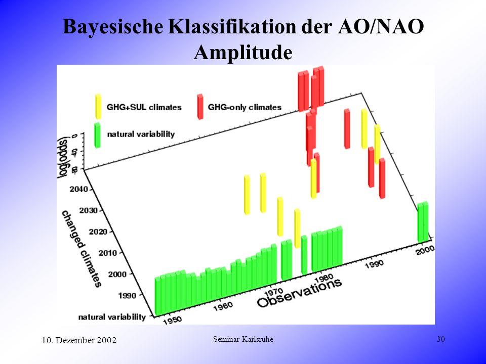Bayesische Klassifikation der AO/NAO Amplitude