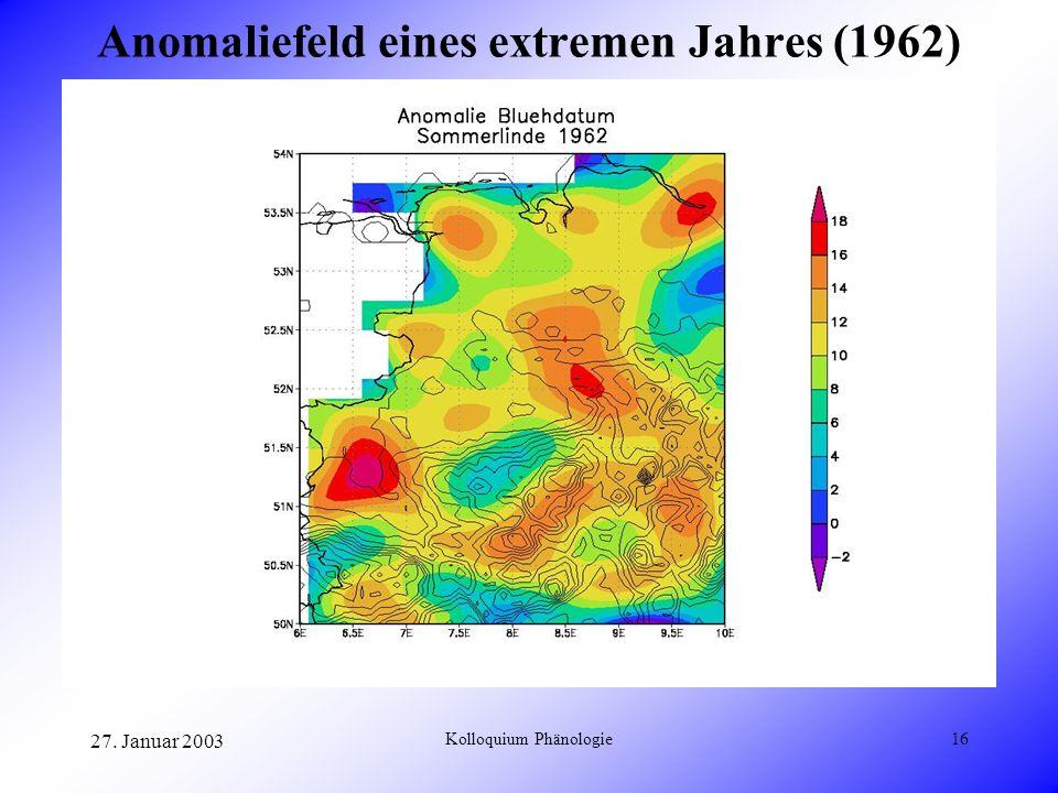 Anomaliefeld eines extremen Jahres (1962)