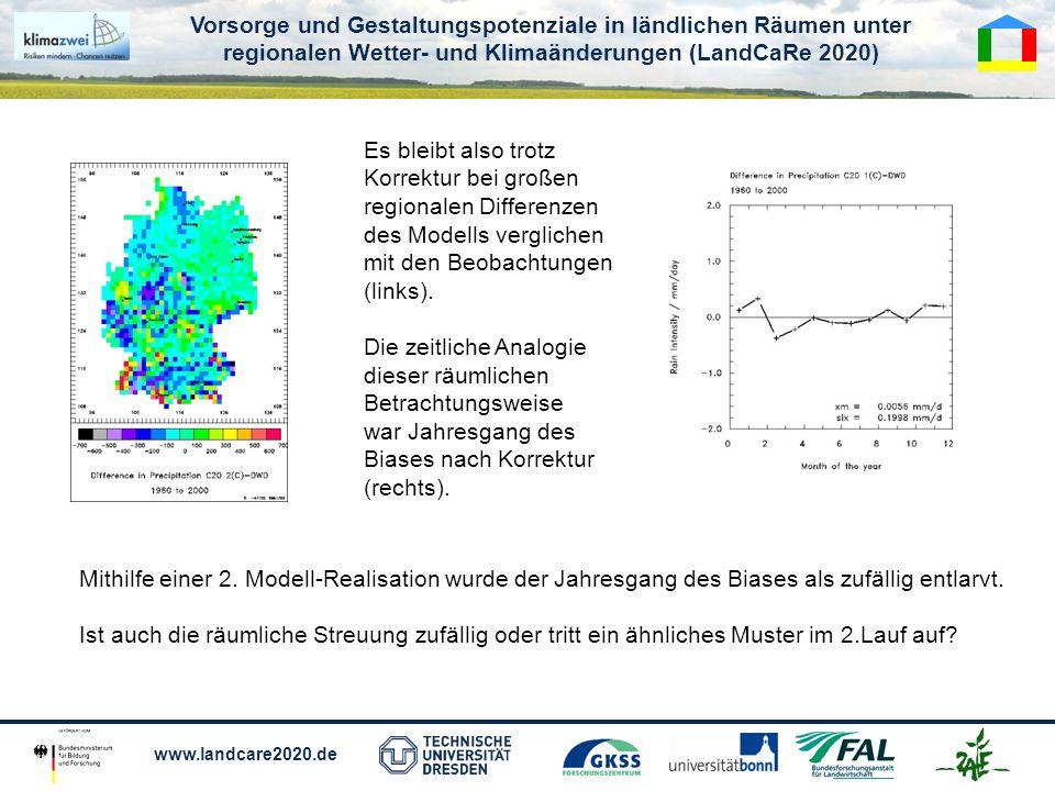 Es bleibt also trotz Korrektur bei großen. regionalen Differenzen. des Modells verglichen. mit den Beobachtungen.