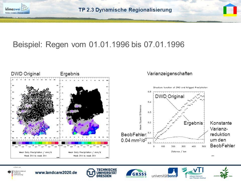 TP 2.3 Dynamische Regionalisierung