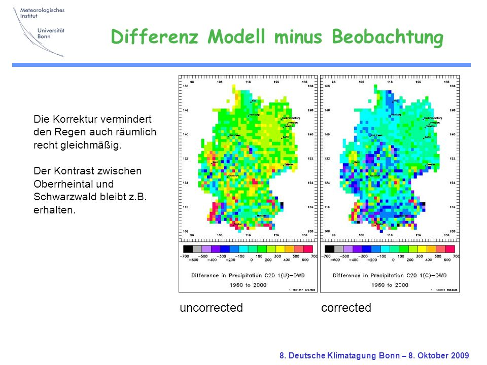 Differenz Modell minus Beobachtung
