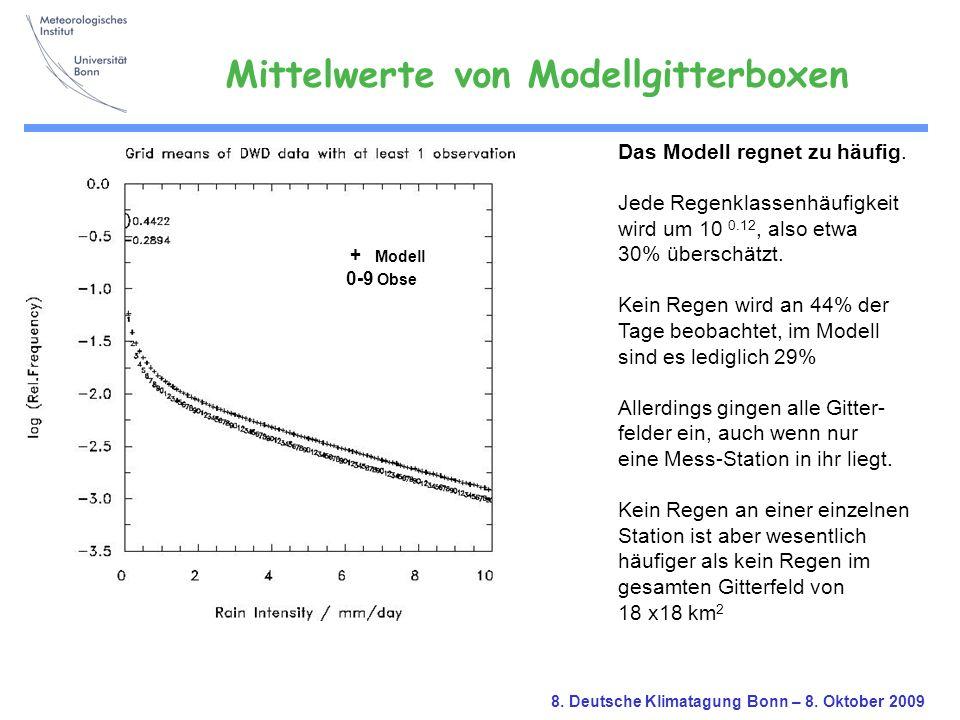 Mittelwerte von Modellgitterboxen