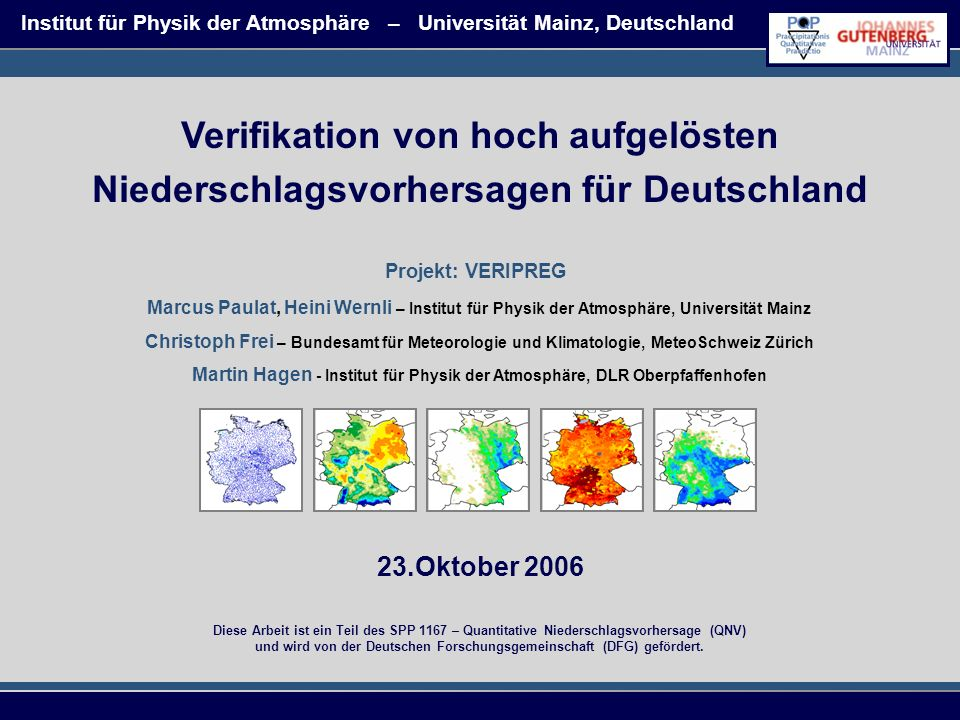 Institut für Physik der Atmosphäre – Universität Mainz, Deutschland
