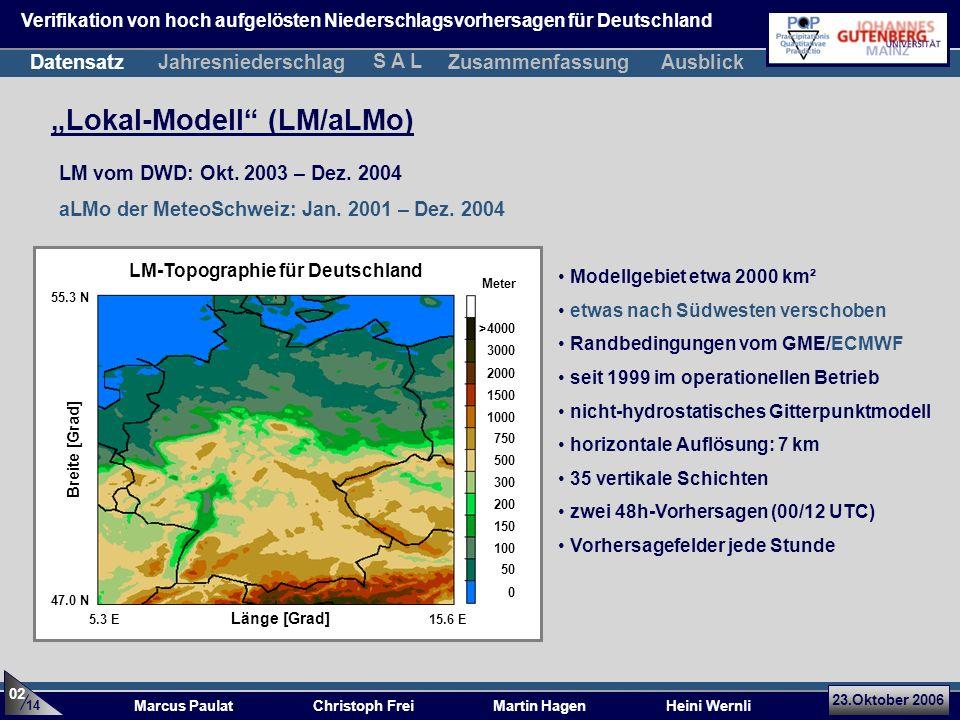LM-Topographie für Deutschland