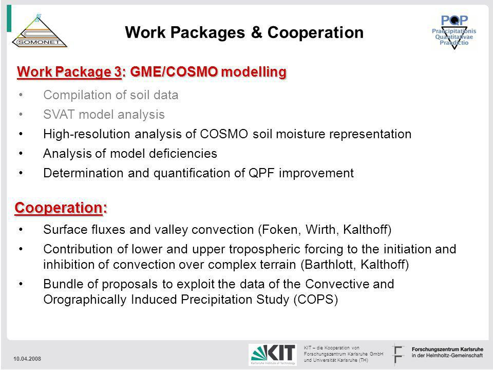 Work Packages & Cooperation