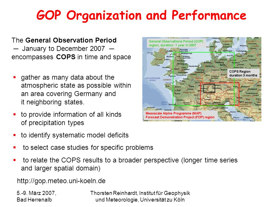 GOP Organization and Performance
