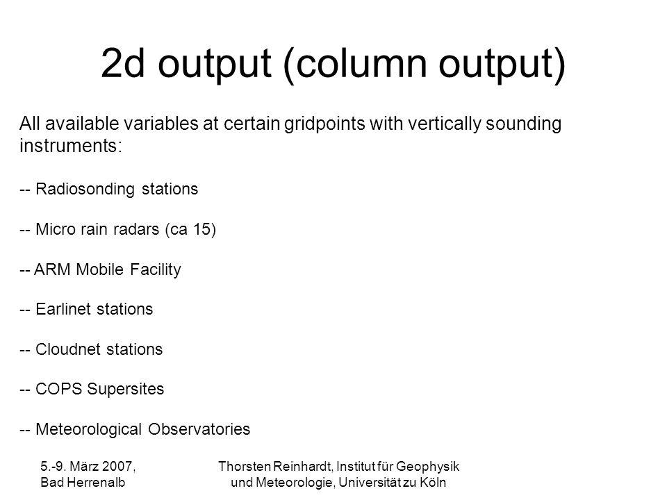 2d output (column output)