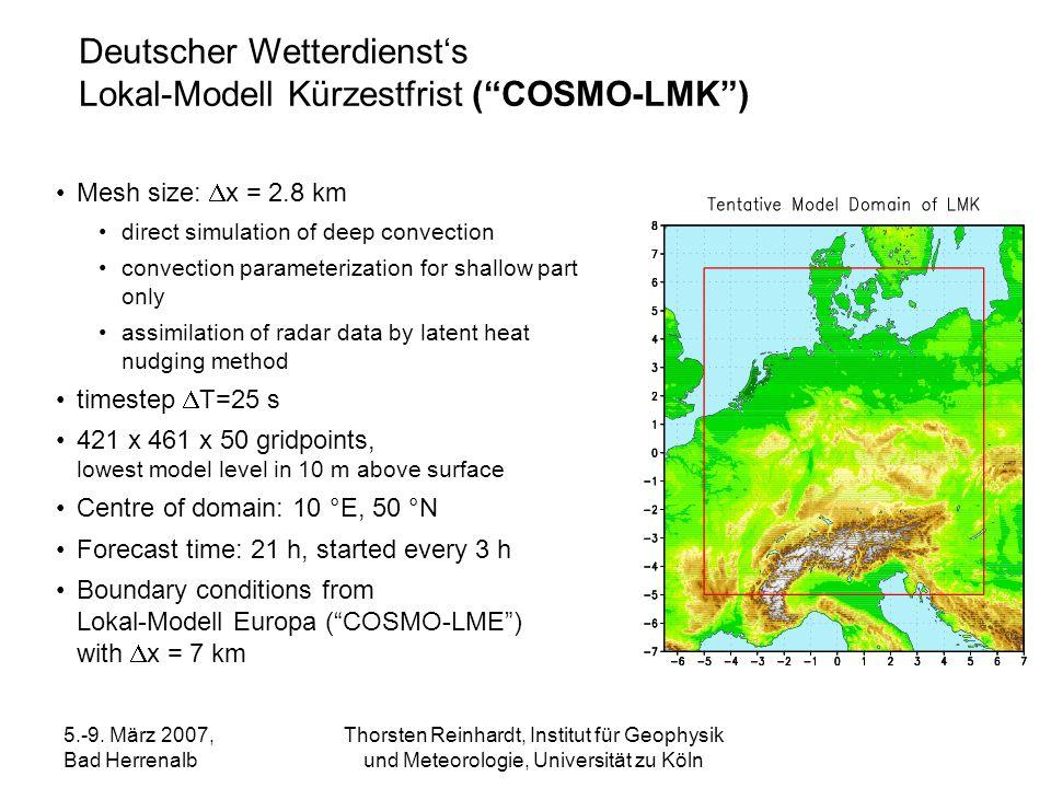 Deutscher Wetterdienst's Lokal-Modell Kürzestfrist ( COSMO-LMK )