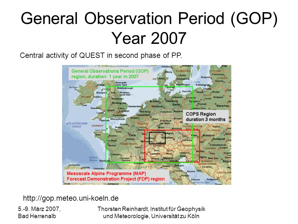 General Observation Period (GOP) Year 2007