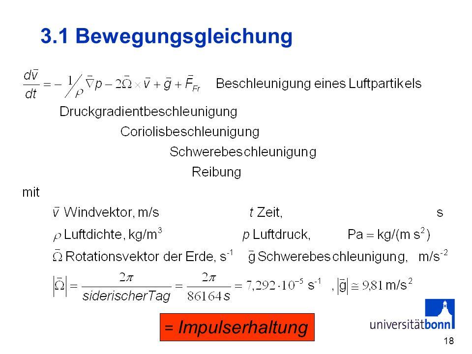 3.1 Bewegungsgleichung = Impulserhaltung