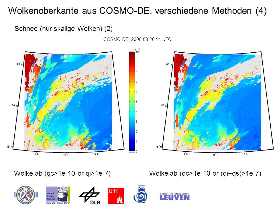 Wolkenoberkante aus COSMO-DE, verschiedene Methoden (4)