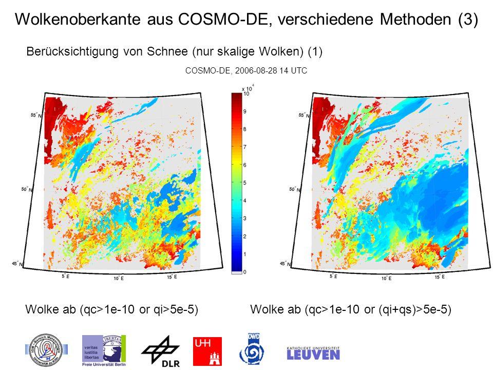 Wolkenoberkante aus COSMO-DE, verschiedene Methoden (3)