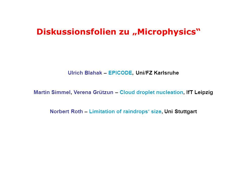 "Diskussionsfolien zu ""Microphysics"