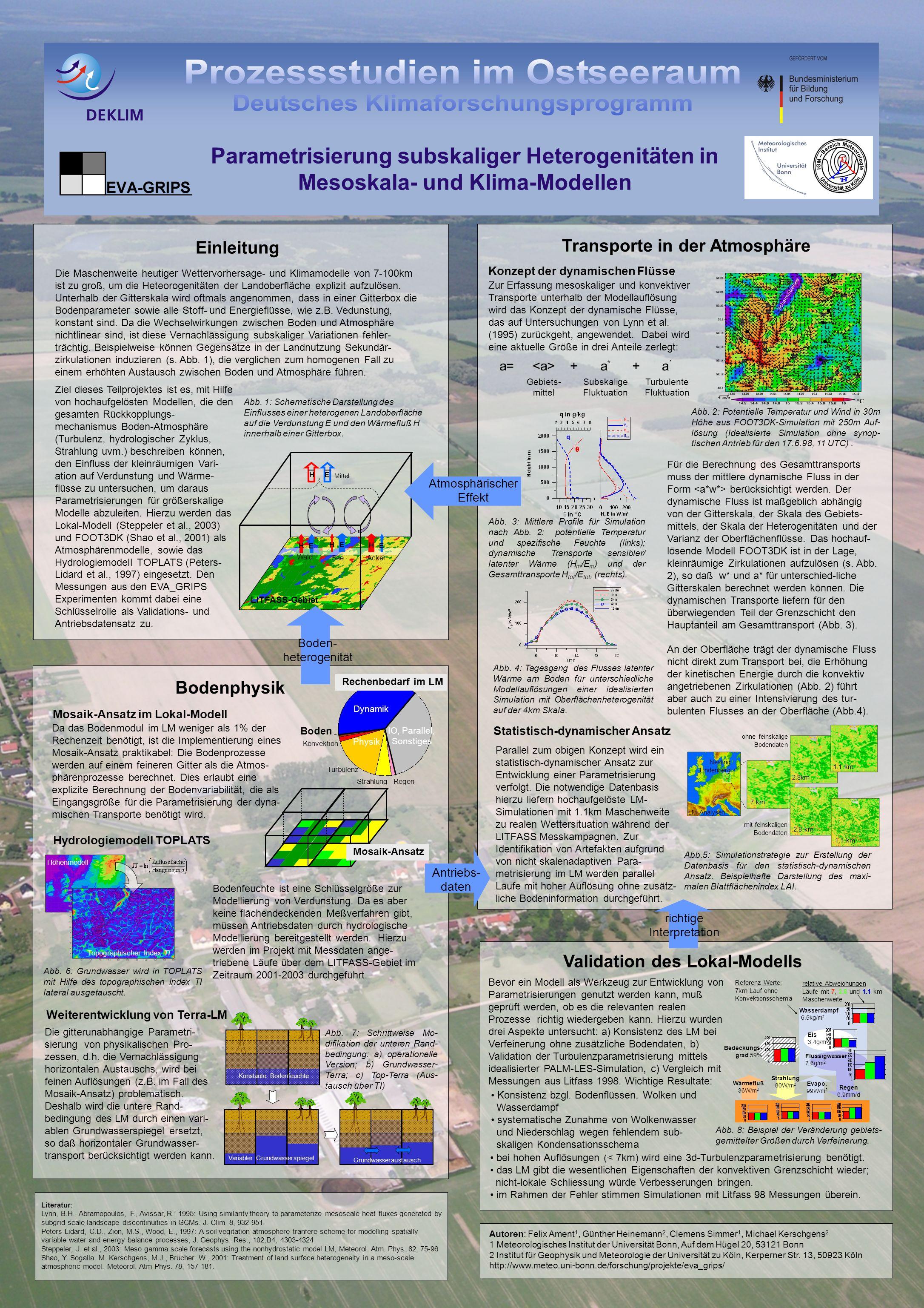 Parametrisierung subskaliger Heterogenitäten in Mesoskala- und Klima-Modellen
