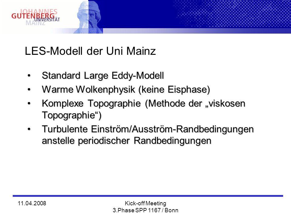 LES-Modell der Uni Mainz