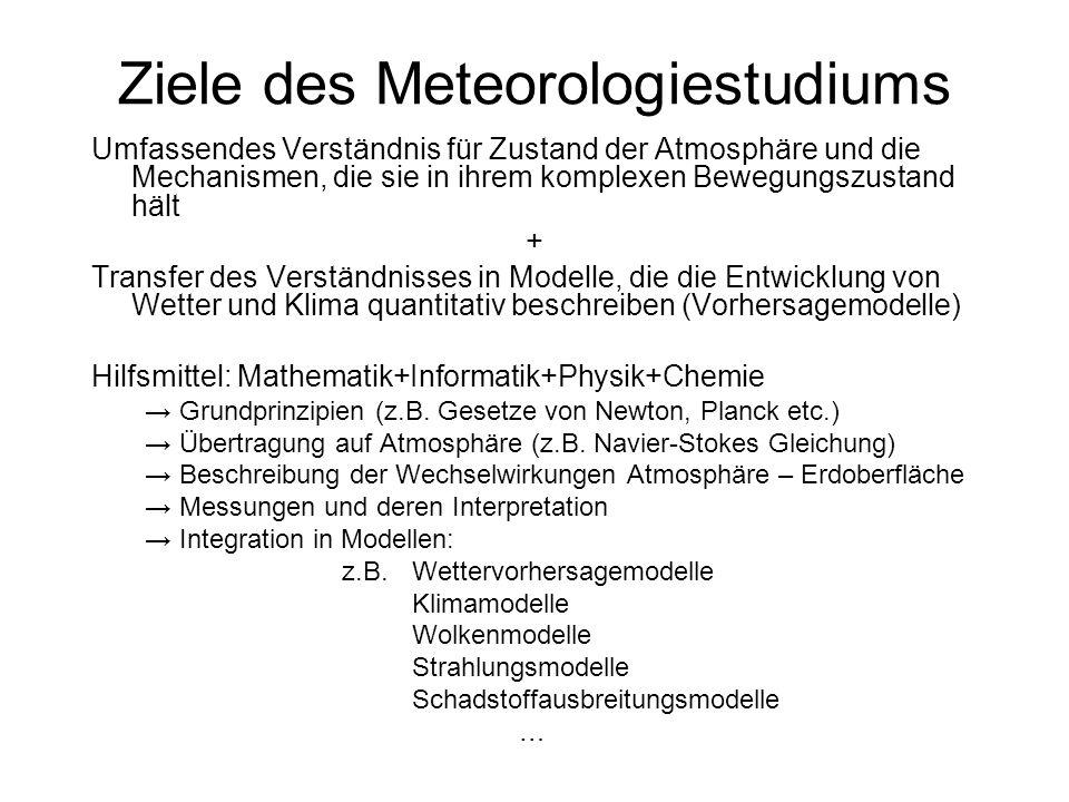 Ziele des Meteorologiestudiums