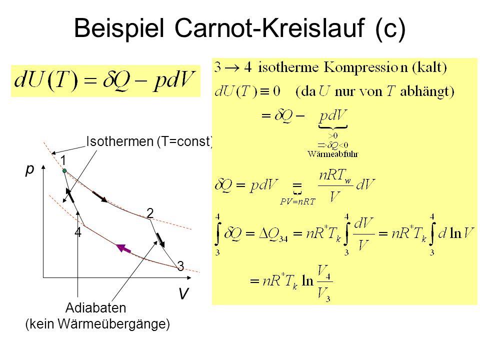 Beispiel Carnot-Kreislauf (c)