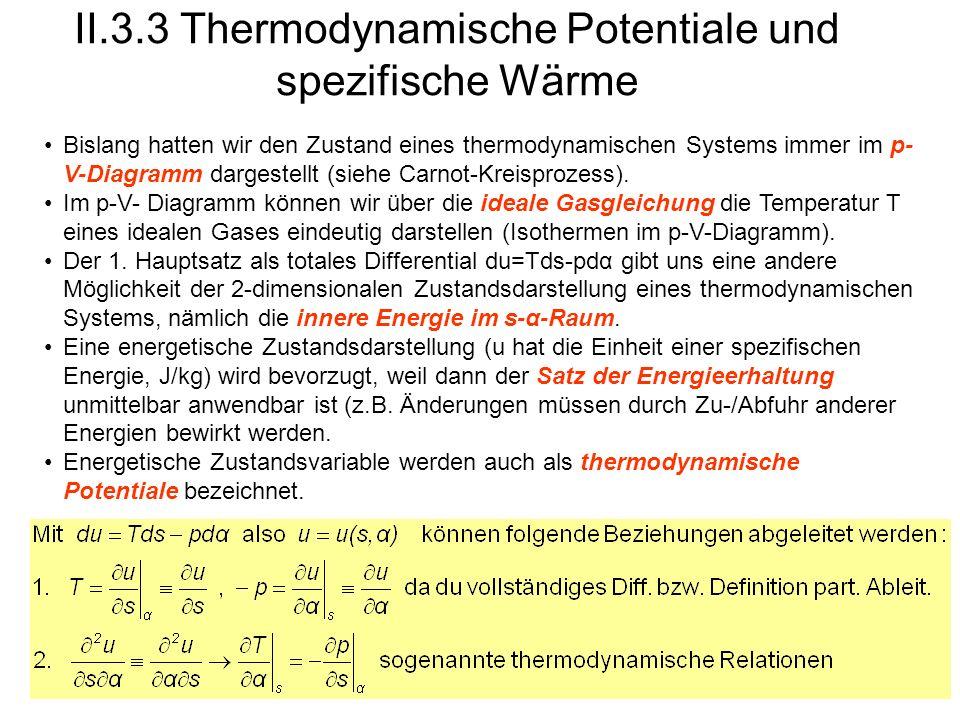 II.3.3 Thermodynamische Potentiale und spezifische Wärme