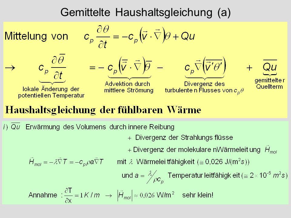 Gemittelte Haushaltsgleichung (a)