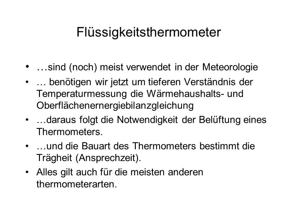Flüssigkeitsthermometer
