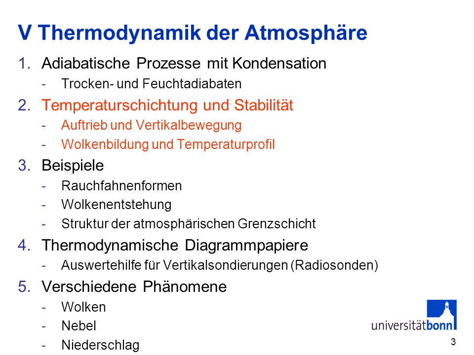 V Thermodynamik der Atmosphäre