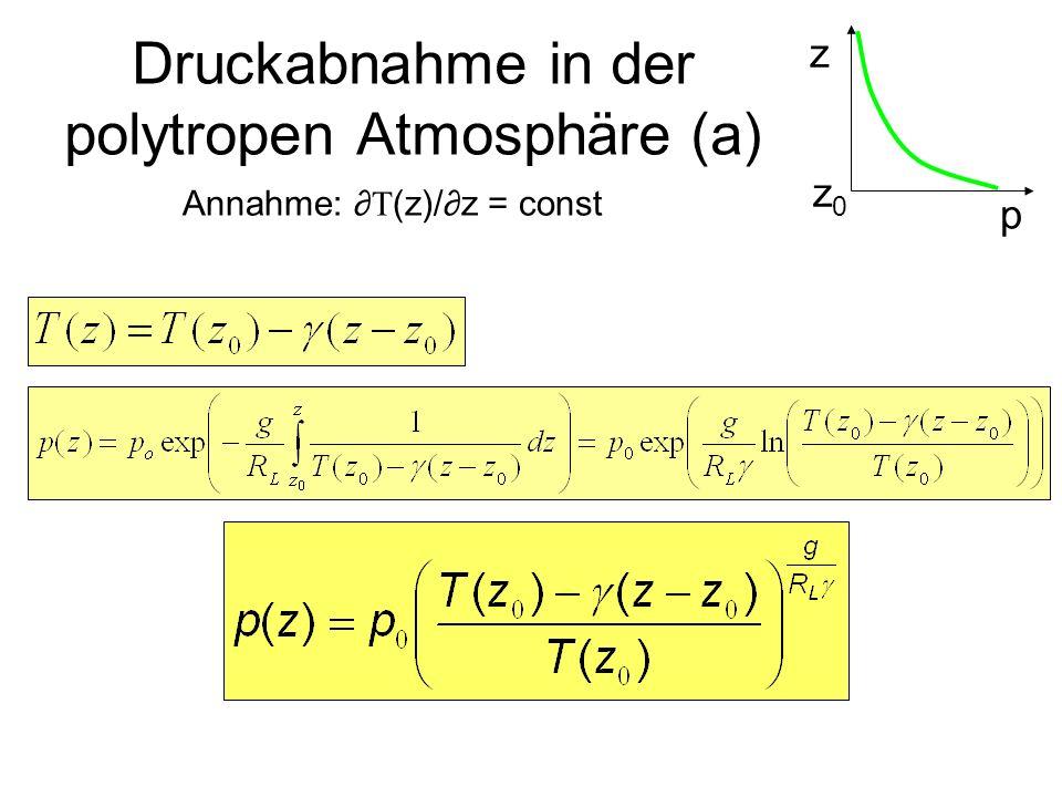 Druckabnahme in der polytropen Atmosphäre (a)