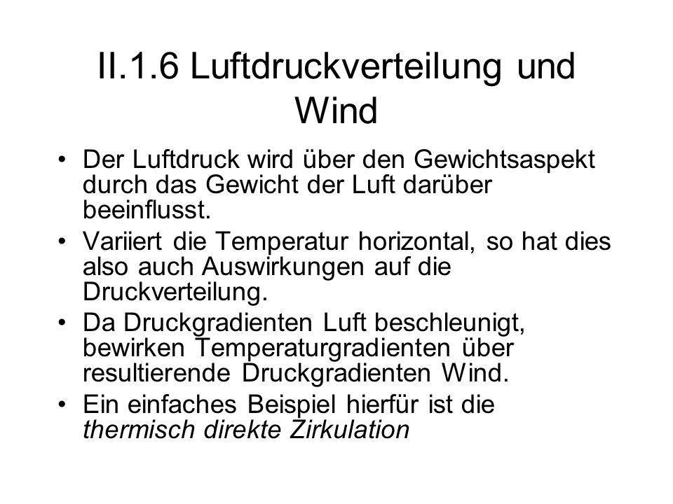 II.1.6 Luftdruckverteilung und Wind