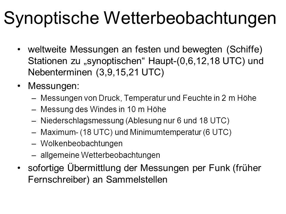 Synoptische Wetterbeobachtungen