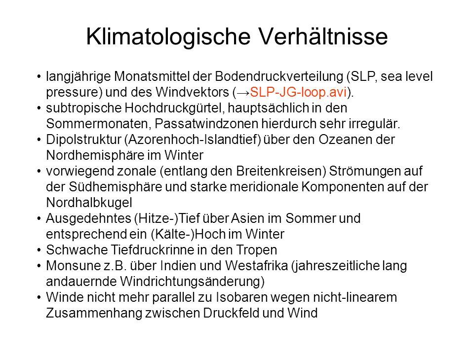 Klimatologische Verhältnisse