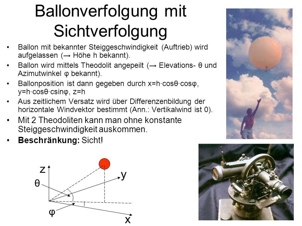Ballonverfolgung mit Sichtverfolgung