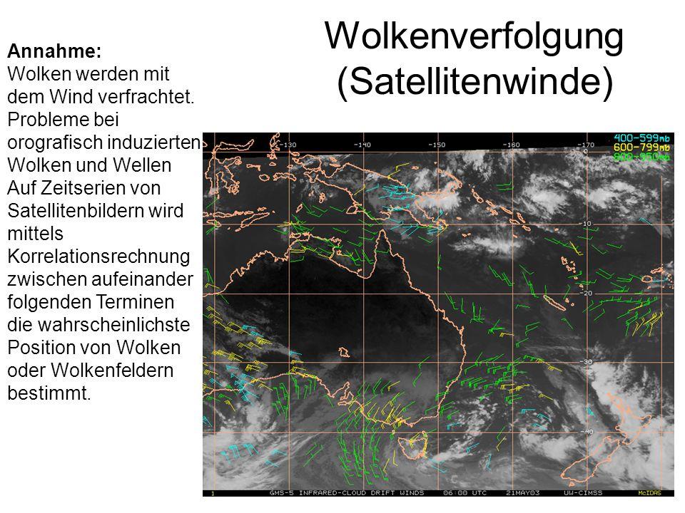 Wolkenverfolgung (Satellitenwinde)