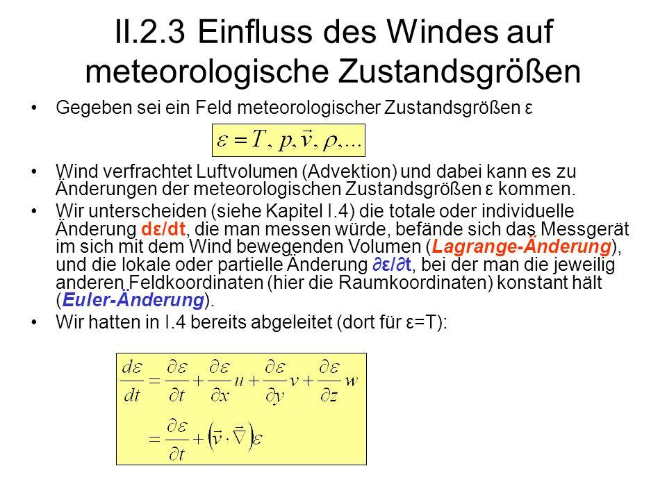 II.2.3 Einfluss des Windes auf meteorologische Zustandsgrößen