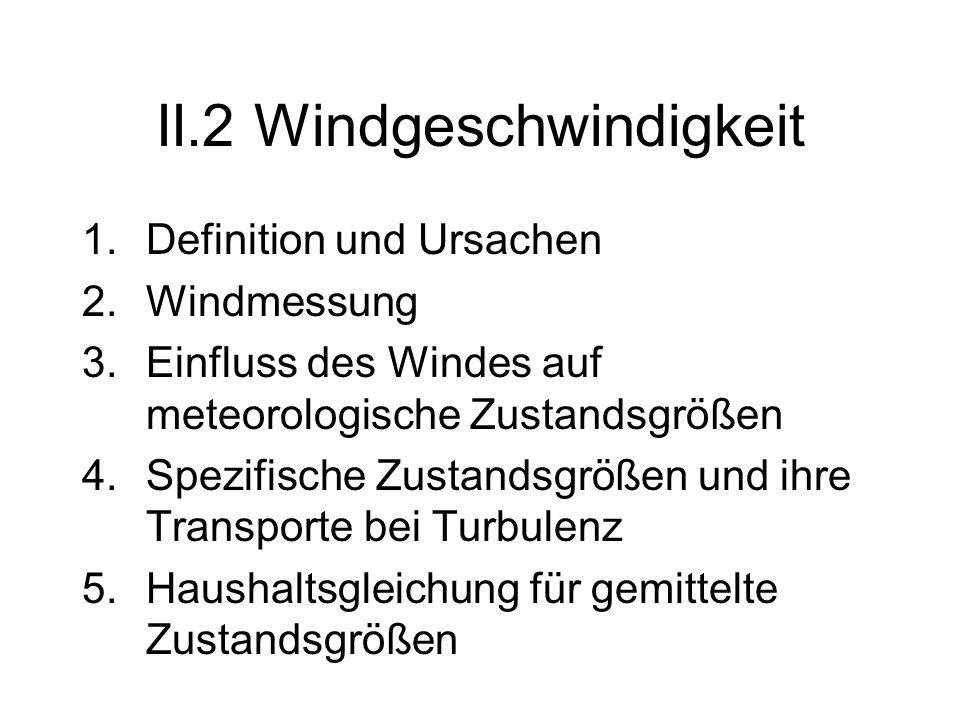 II.2 Windgeschwindigkeit