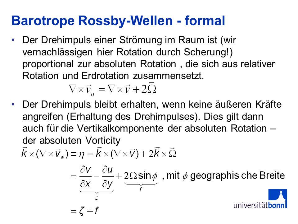 Barotrope Rossby-Wellen - formal