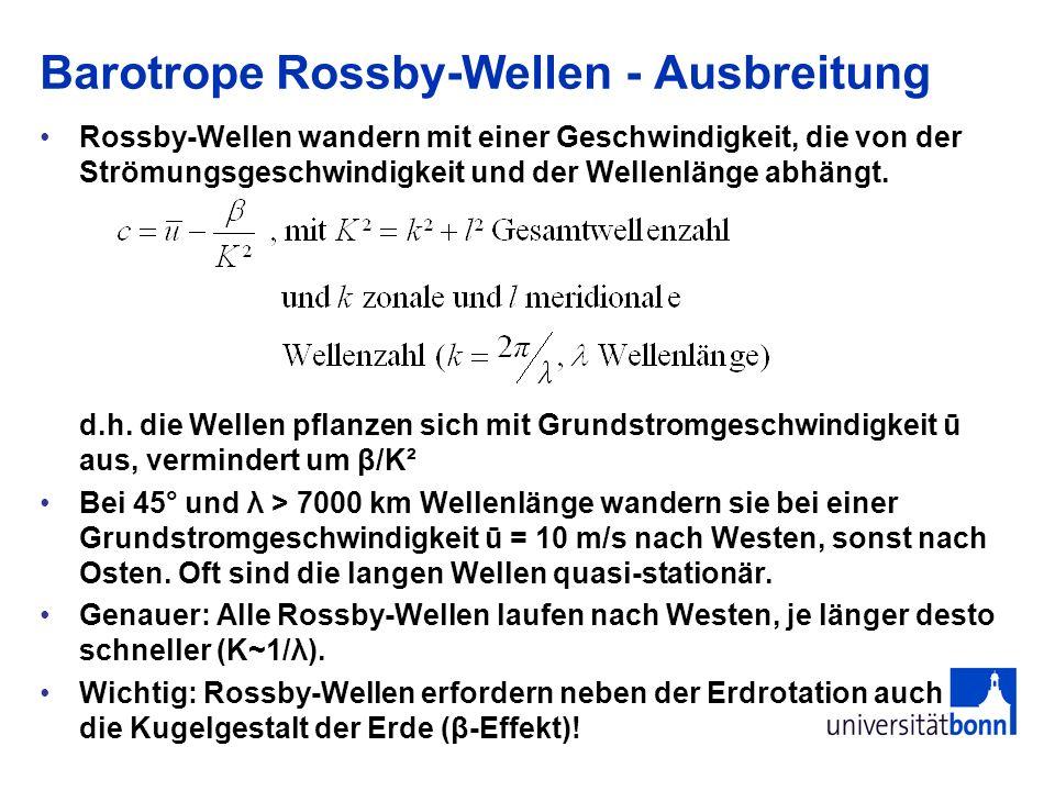 Barotrope Rossby-Wellen - Ausbreitung