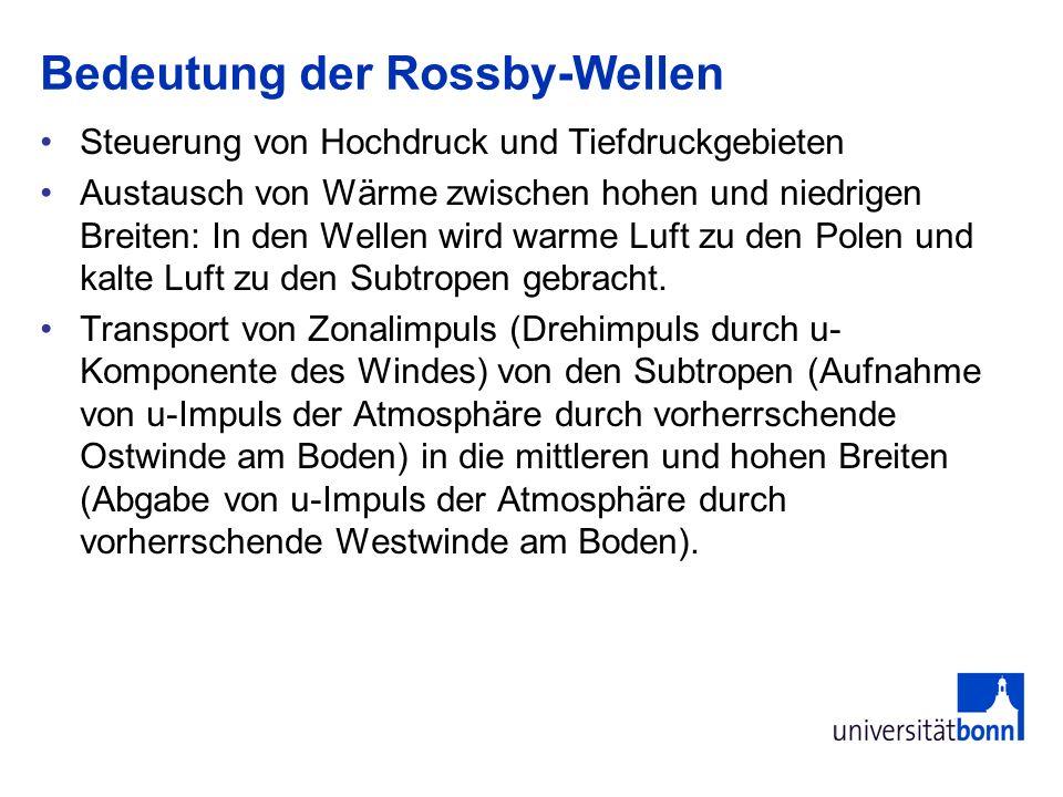 Bedeutung der Rossby-Wellen