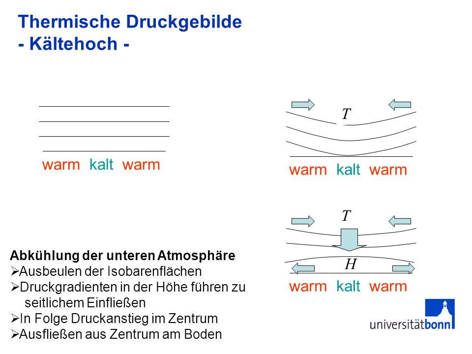 Thermische Druckgebilde - Kältehoch -