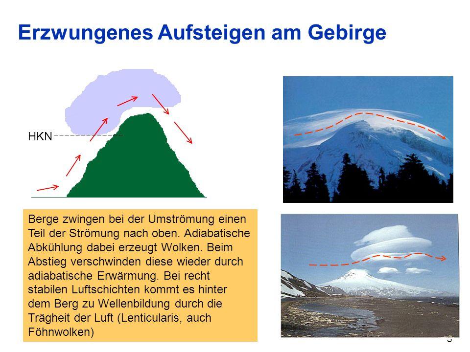 Erzwungenes Aufsteigen am Gebirge