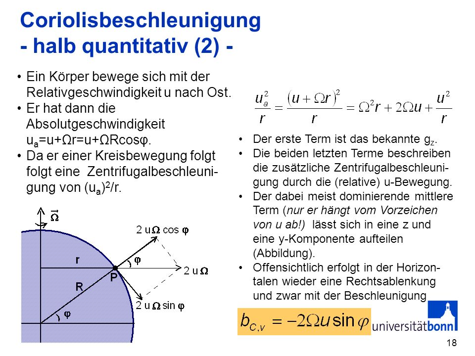 Coriolisbeschleunigung - halb quantitativ (2) -