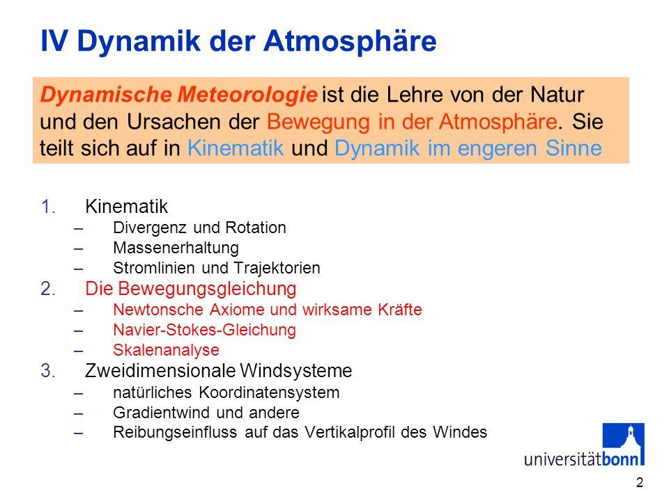 IV Dynamik der Atmosphäre