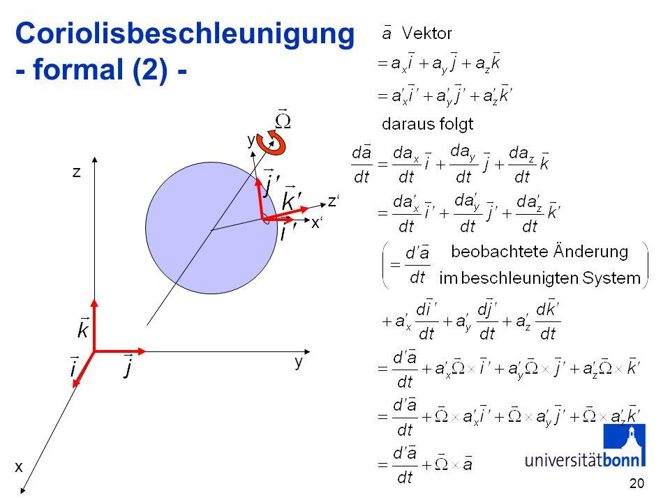 Coriolisbeschleunigung - formal (2) -