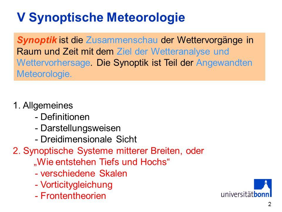 V Synoptische Meteorologie