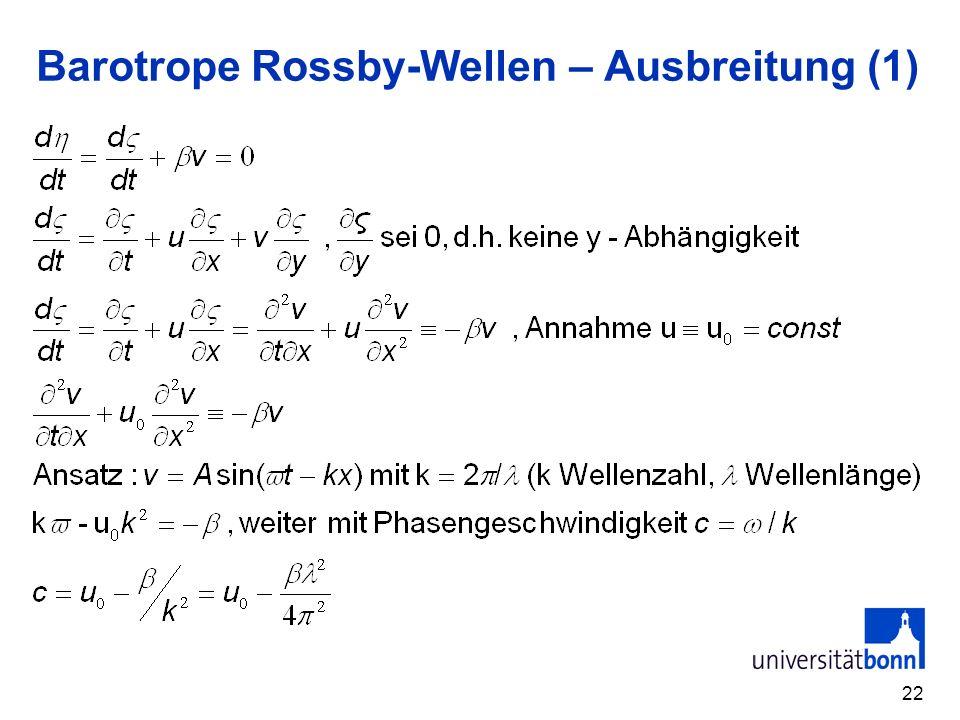 Barotrope Rossby-Wellen – Ausbreitung (1)