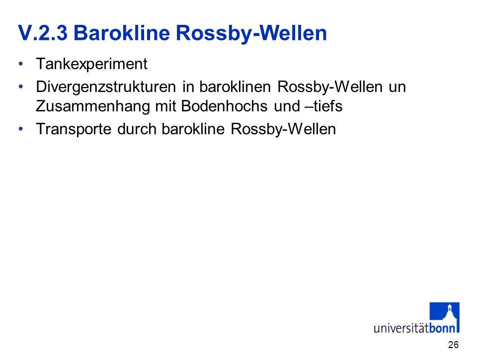 V.2.3 Barokline Rossby-Wellen