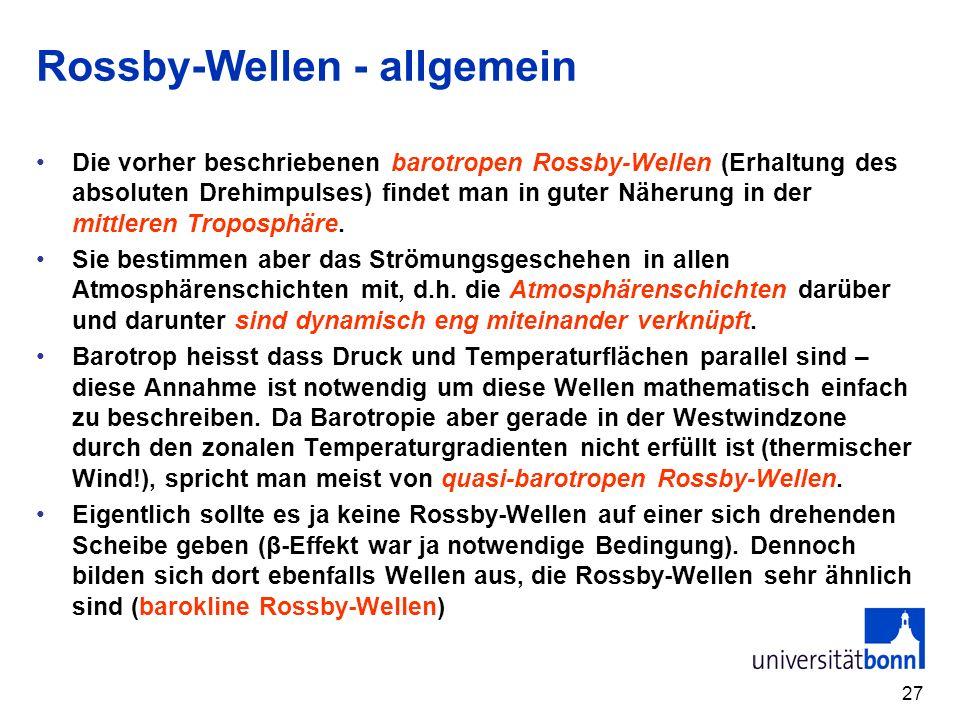 Rossby-Wellen - allgemein