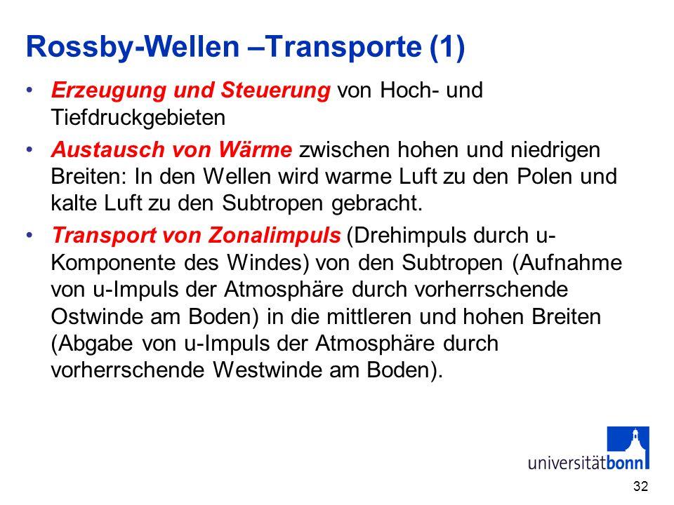 Rossby-Wellen –Transporte (1)
