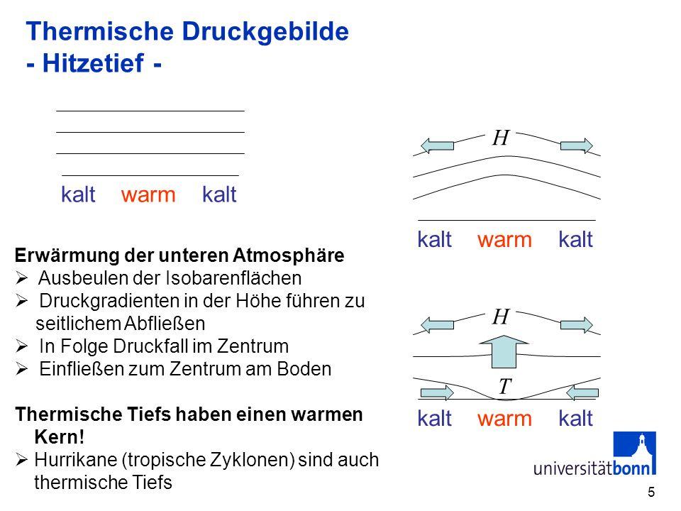 Thermische Druckgebilde - Hitzetief -