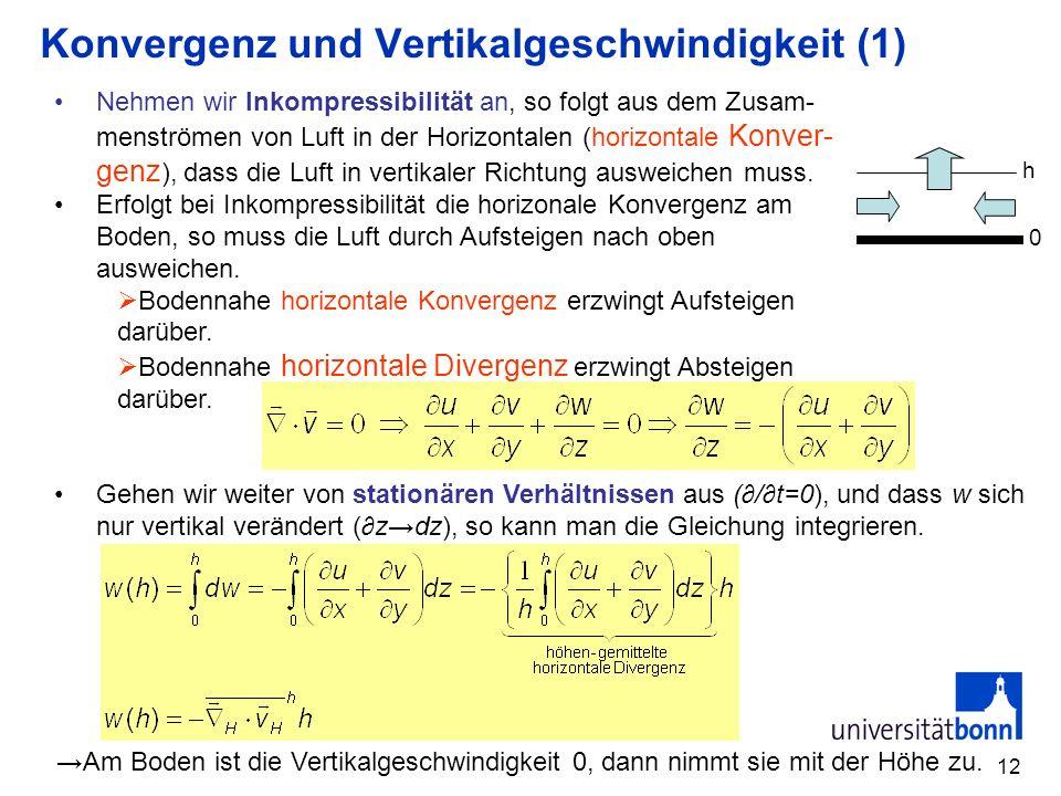 Konvergenz und Vertikalgeschwindigkeit (1)