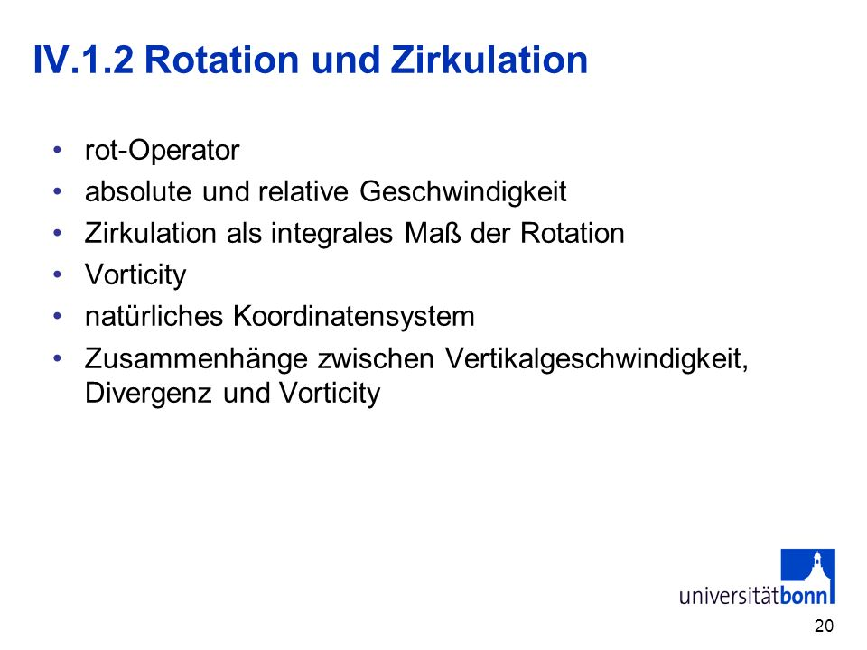 IV.1.2 Rotation und Zirkulation