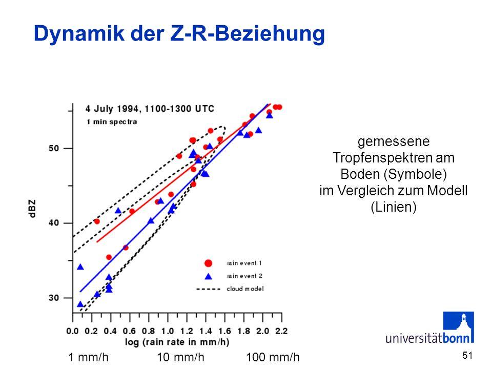 Dynamik der Z-R-Beziehung